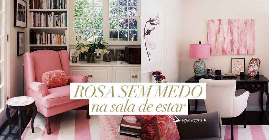 Sala De Estar Branca E Rosa ~ Sem medo do rosa na sala de estar  Living Gazette
