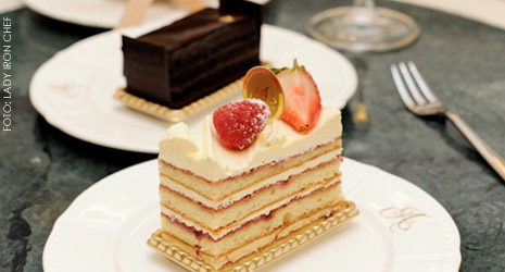 Os bolos sofisticados do Antoinette Palais Renaissance
