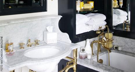 Classe e luxo em banheiro