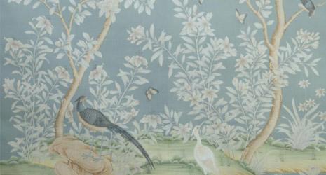 A delicadeza dos papeis de paredes da marca fundada em 1898