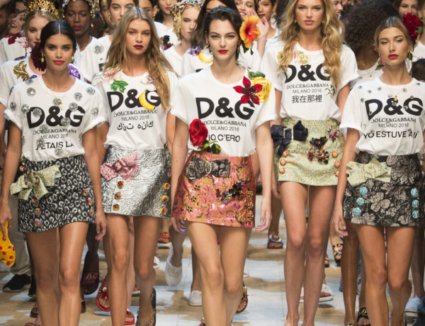 Minissaia, camiseta e bordado: o finale irresistível de Dolce&Gabbana