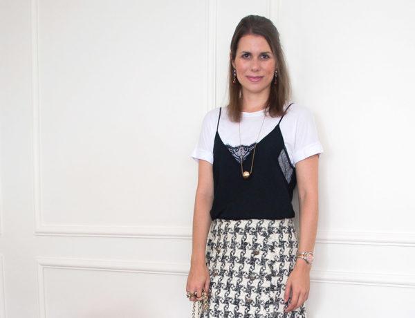Meu look: camiseta com blusa de alcinha • Living Gazette