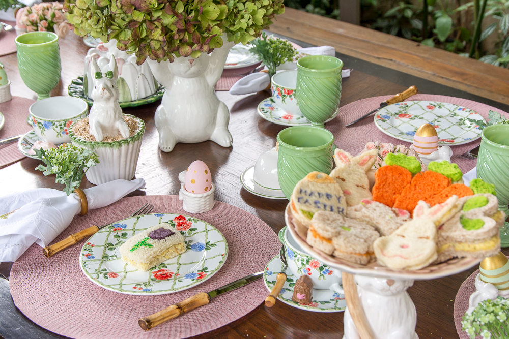 Mesa de almoço de páscoa no jardim por Kasa 57