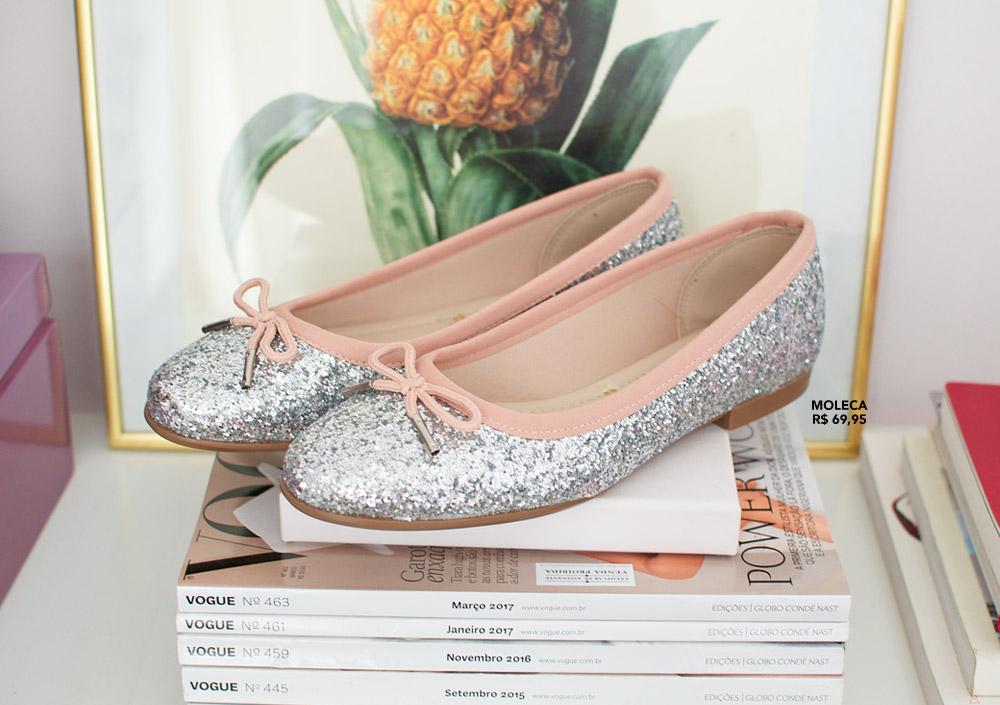 Achado da vez: sapatilha de glitter