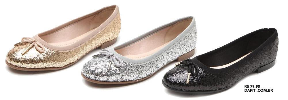 Achado da vez: sapatilha de glitter Moleca