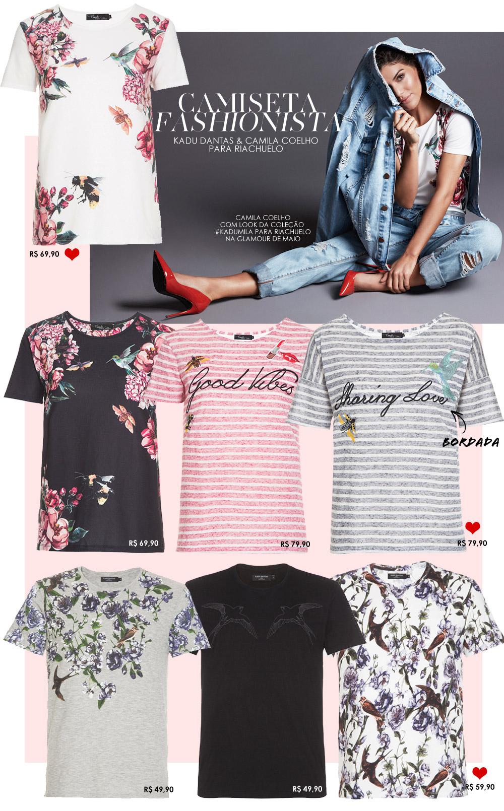 As camisetas bacanas da coleção Kadu Dantas e Camila Coelho para Riachuelo