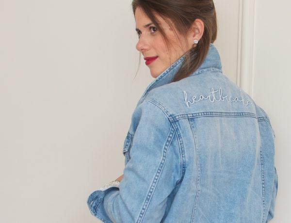 Meu look: tricô com brilho e jaqueta jeans
