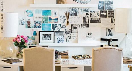 Mistura de estilos dá o tom em escritório de designer de joias