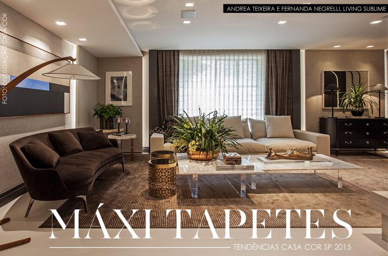 tendencias casa cor maxi tapetes - Tapete Living De