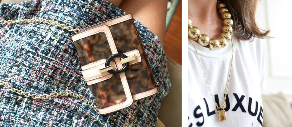 Adesivo De Olhos Para Artesanato ~ Meu look saia de tweed e camiseta Living Gazette