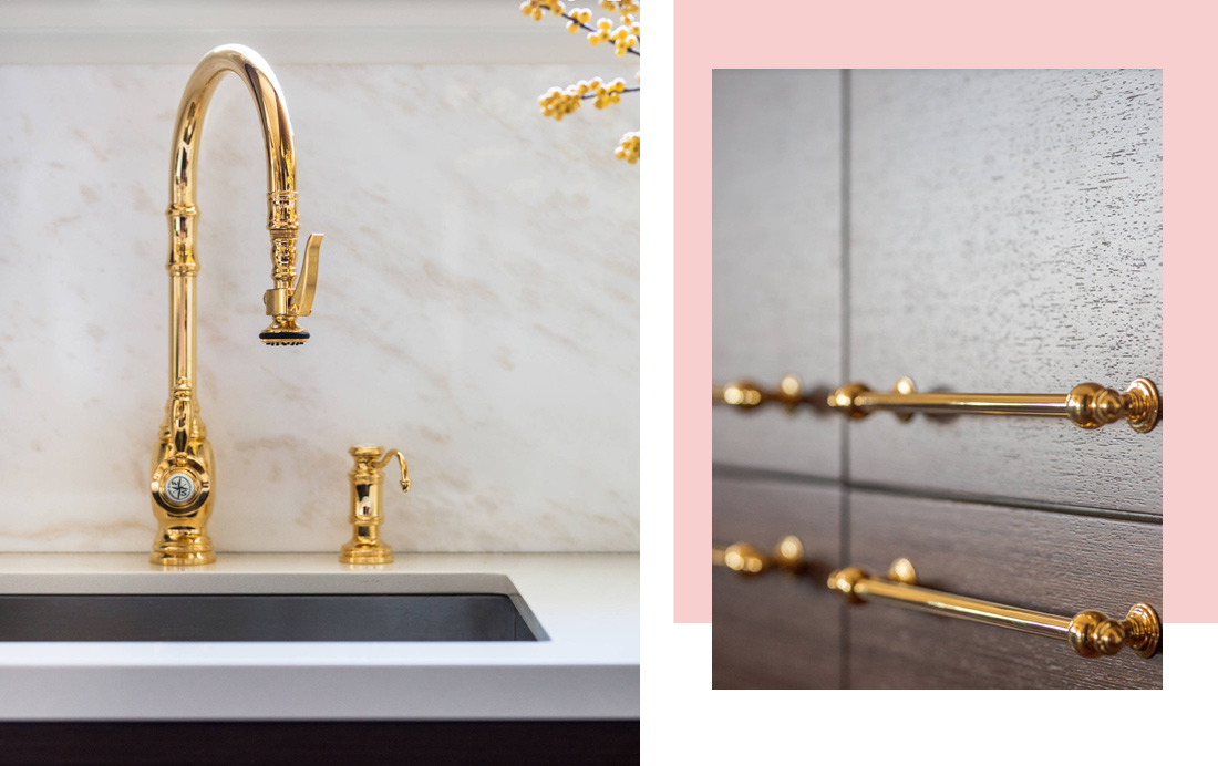 Minimalismo chique na cozinha com madeira e mármore