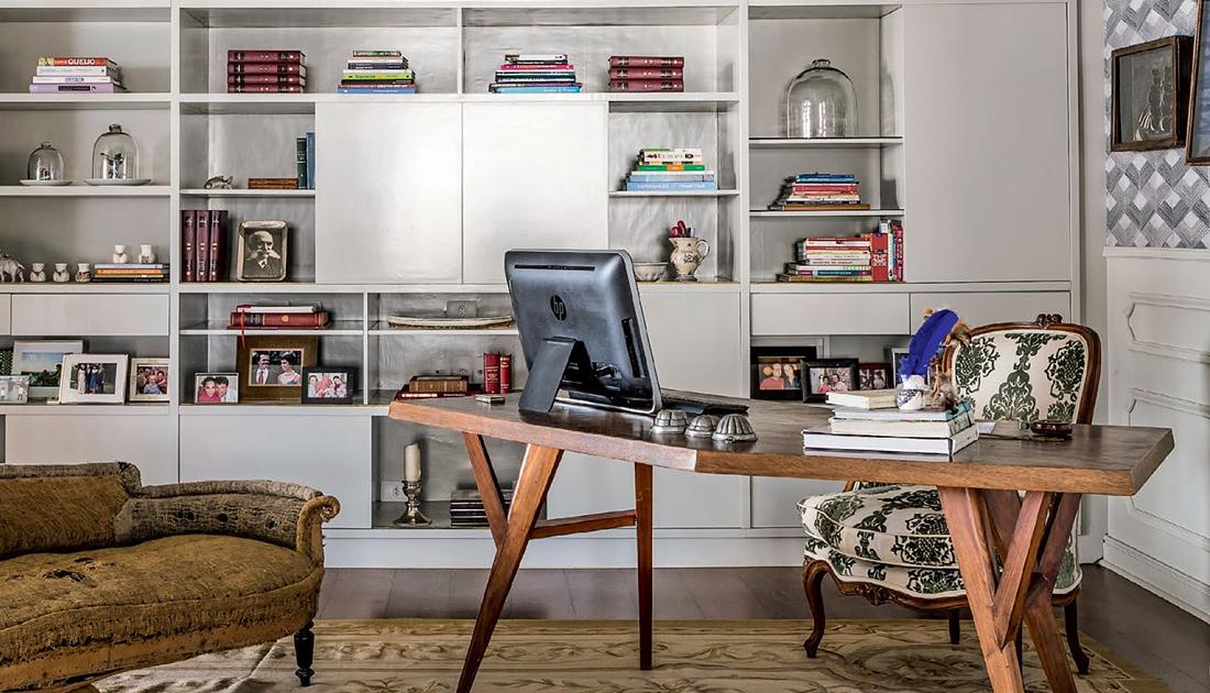 Rústico clássico no home office