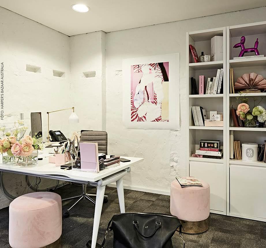 O escritório à la Pinterest do The Daily Edited