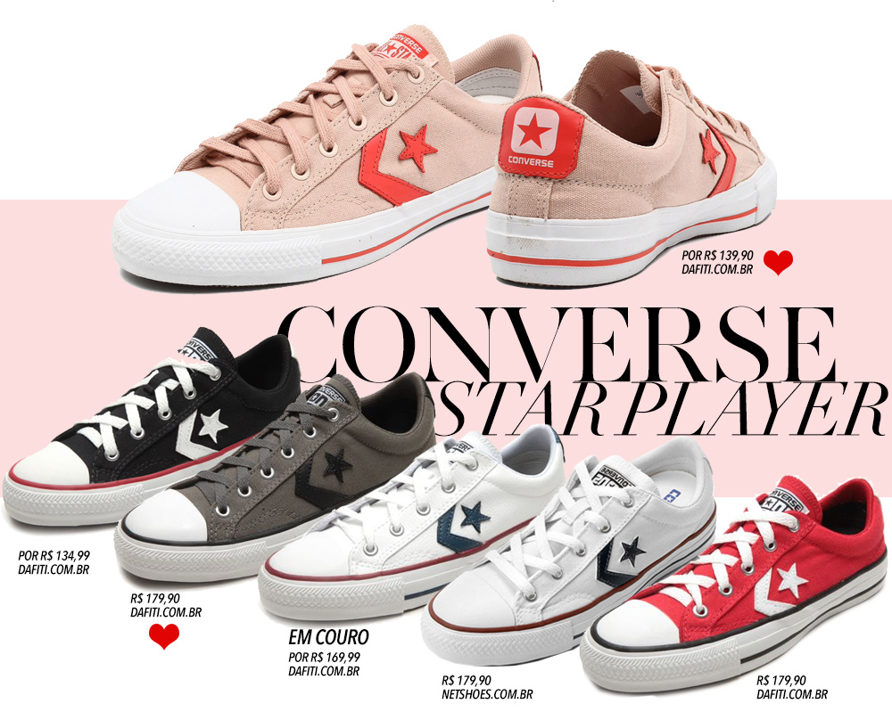 Variando o All Star branco: Converse Star Player   Living